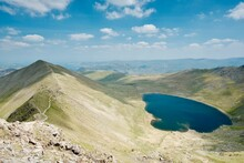 Swirral Edge And Red Tarn From Helvellyn In The Lake District