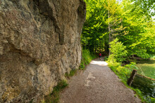 Wanderweg Am Hechtsee Bei Kufstein In Tirol Österreich
