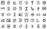Runner app icon. Outline runner app vector icon for web design isolated on white background