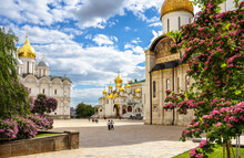 Cathedral Square Inside Moscow Kremlin, Russia