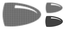 Bullet Halftone Dotted Icon. Halftone Array Contains Round Points. Vector Illustration Of Bullet Icon On A White Background.
