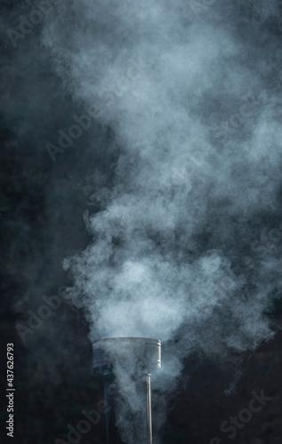 Tela smoke and chimney