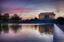 Washington DC Mall - Lincoln Memorial, Washington Monument, WWII Memorial