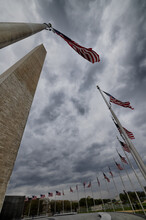 Washington Monument, Flags, US Capitol