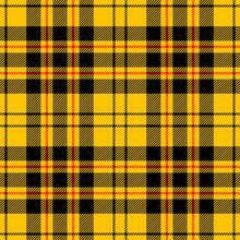 Yellow Tartan Seamless Vector Pattern