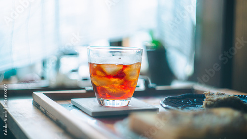 Fotografie, Obraz アイスコーヒーで過ごすおうち時間