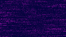 Abstract Green Background In A Matrix Style. Dots On Screen F Stream Of Binary Code. Matrix Space Wallpaper. Vector Illustration.