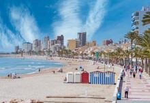 View Of The Beach Carrer La Mar, El Campello, Alicante, Spain