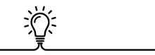 Lightbulb Creative Concept. Idea Symbol. Sign Bulb Isolated On White Beckground. Business Idea - Stock Vector.