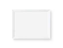 White Realistic Picture Frame - Stock Vector.