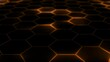 Abstract futuristic hexagon mesh with light effects. Can be used as a background for presentations, news, online media. Looped