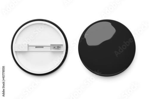 Canvas Black badge isolated on white. 3d rendering.