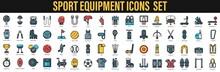 Sports Equipment Icon Set. Sport Equipment Background. Sports Icon.