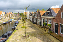 The City Center Of The Picturesque Dutch Town Of Sloten