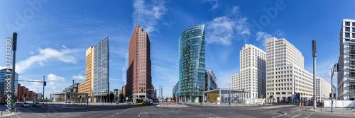 Berlin Skyline Potsdamer Platz square panoramic view in Germany Fotobehang
