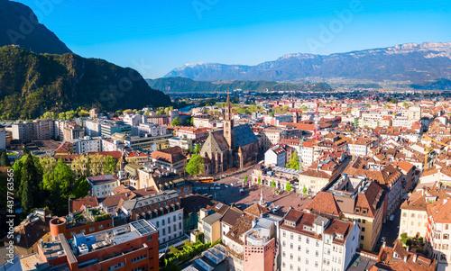 Photo Bolzano aerial panoramic view, Italy