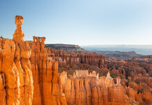 Hoodoos And Canyons - Red Painted Faces Around The Rims Of The Chilling Bryce Canyon National Park