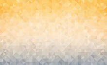Abstract Background Vector Illustration. Simple Yellow Color Banner Or Backdrop With Geometric Faceted Triangular Shapes As Texture, As Backdrop Or Design Element. Three-dimensional Pixelated Mosaic.