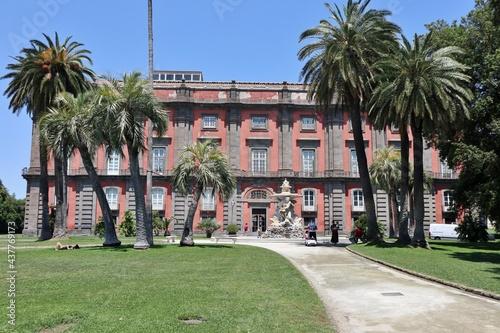 Fotografija Napoli - Facciata laterale del Museo di Capodimonte dal Belvedere