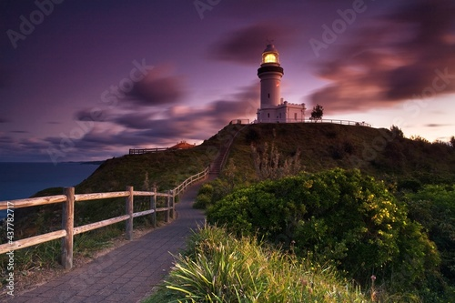 Wonderful place in Australia, the coast and ocean, Queensland, Lighthouse in Byr Fototapet