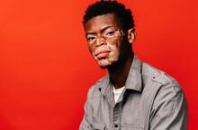 Portrait Of A Black Man With Vitiligo