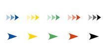カラフルな矢印アイコンセット
