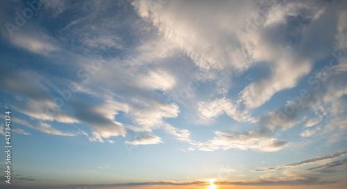 Beautiful sky at sunset, panorama #437841374