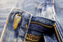 Old  Blue Denim Jean Texture