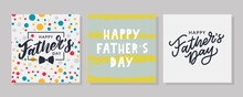 Happy Father's Day. Lettering. Banner Sale Brush Text Pattern Vector