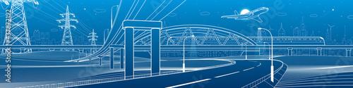 Fotografia Outline road bridge