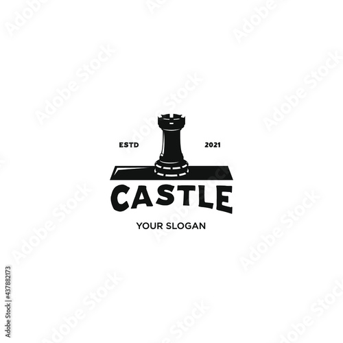 Canvas Print castle brook silhouette logo