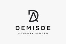 Initials Letter DA Logo Design Vector Illustration. Letter DA Logo Design Suitable For Business And Finance Company Logos.