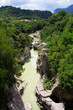 kanion rzeczny, las, Włochy.