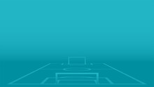 Blue Background With A Soccer Field. 2020 Template For Football Championships. Vector