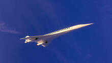 Supersonic Flight, The Plane To Travel Faster Than Ever. Unlike Other Commercial Flights, It Has Double The Speed. 3d Render