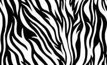 Zebra Skin Seamless Pattern. Vector Background.