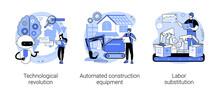 Modern Innovation Abstract Concept Vector Illustrations.