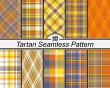 Checkered Classical Pattern Set Tartan.
