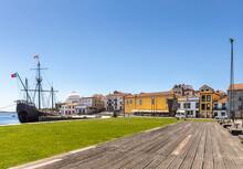 The Historic Ship Docked In Vila Do Conde, Porto District, Portugal
