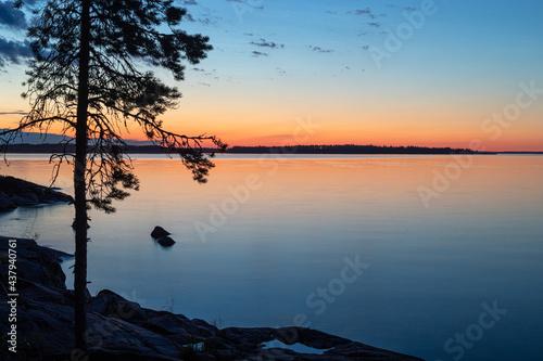 Fototapeta Sunrise over the lake