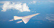 canvas print picture - Supersonic flight, the plane to travel faster than ever. Unlike other commercial flights, it has double the speed. 3d render