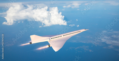 Canvas-taulu Supersonic flight, the plane to travel faster than ever