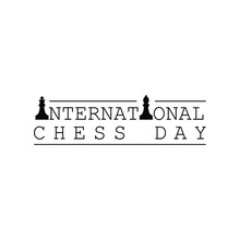 Abstract World Chess Day Holiday Background Vector Design Style Template For Invitation Greeting Card Poster Banner