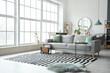 Leinwandbild Motiv Stylish interior of living room with comfortable sofa