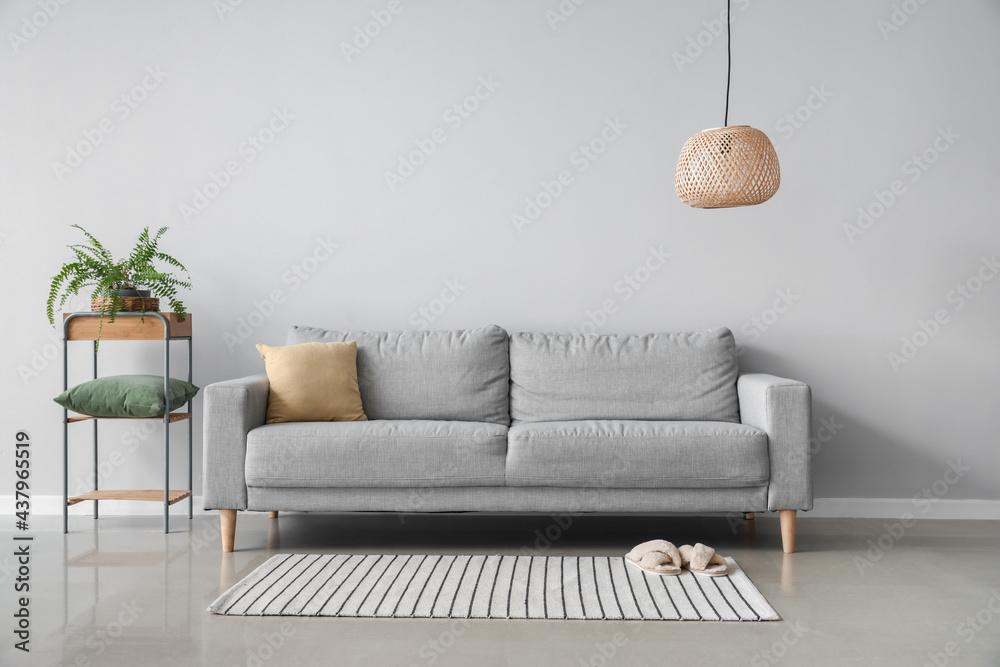 Leinwandbild Motiv - Pixel-Shot : modern interior of living room with cozy sofa
