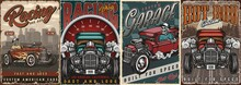 Custom Cars Vintage Colorful Posters