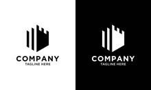 Authentic Castle Tower Silhouette Logo Design Icon Inspiration