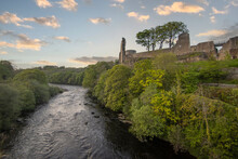 The River Tees In Barnard Castle In County Durham, UK
