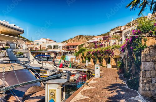 Canvastavla The scenic harbor of Poltu Quatu, Costa Smeralda, Sardinia, Italy