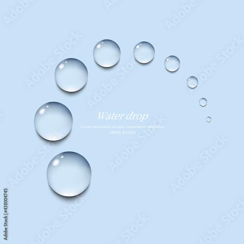 Fotografia transparent water droplets , water drop object.